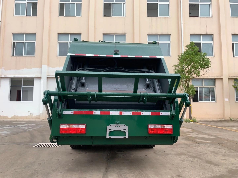 國六170馬力8立方壓縮垃圾車北京牌照圖片