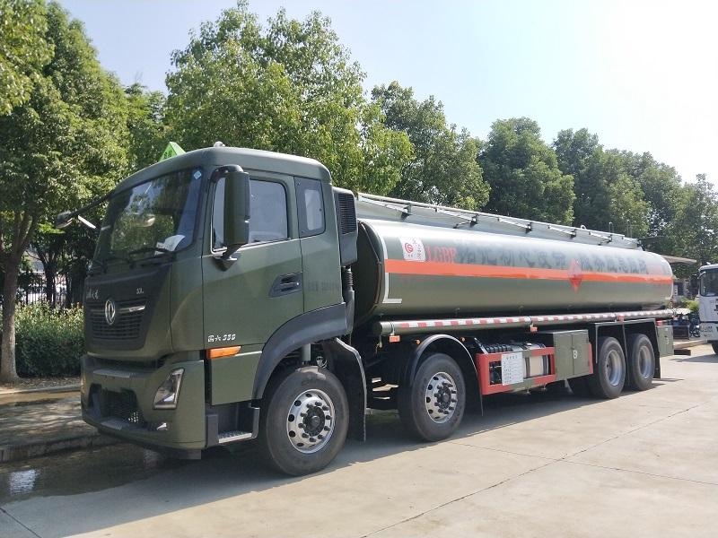 国六东风天龙标载20吨铝合金油罐车图片