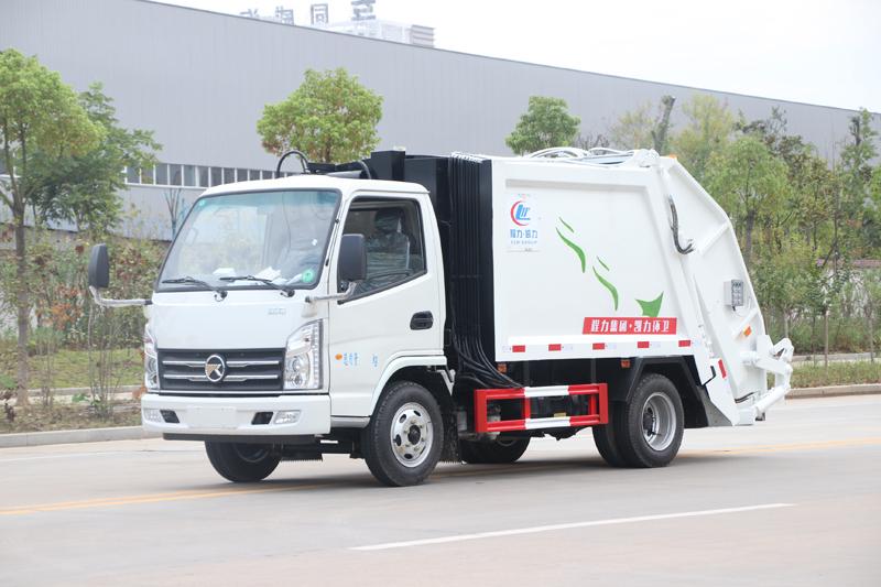 國六小型藍牌垃圾車-凱馬4立方壓縮垃圾車什么價
