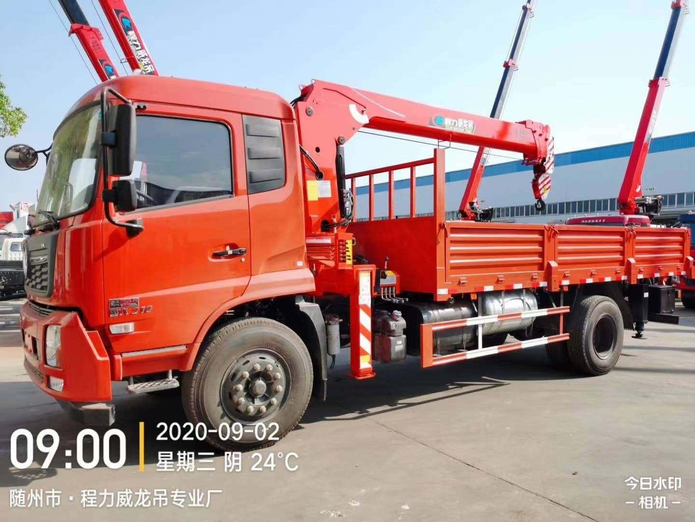 国六东风天锦210马力威龙6.3吨4节U型臂吊机