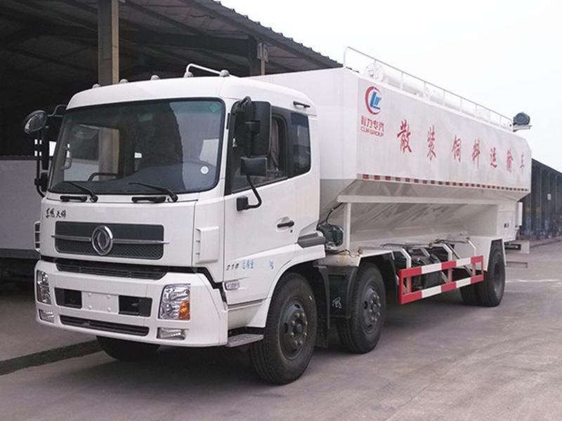 东风天锦小三轴30方饲料运输车厂家配置参数