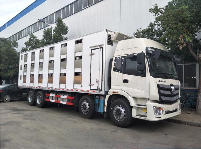 廠家為您詳解歐曼9.5米運豬車圖片