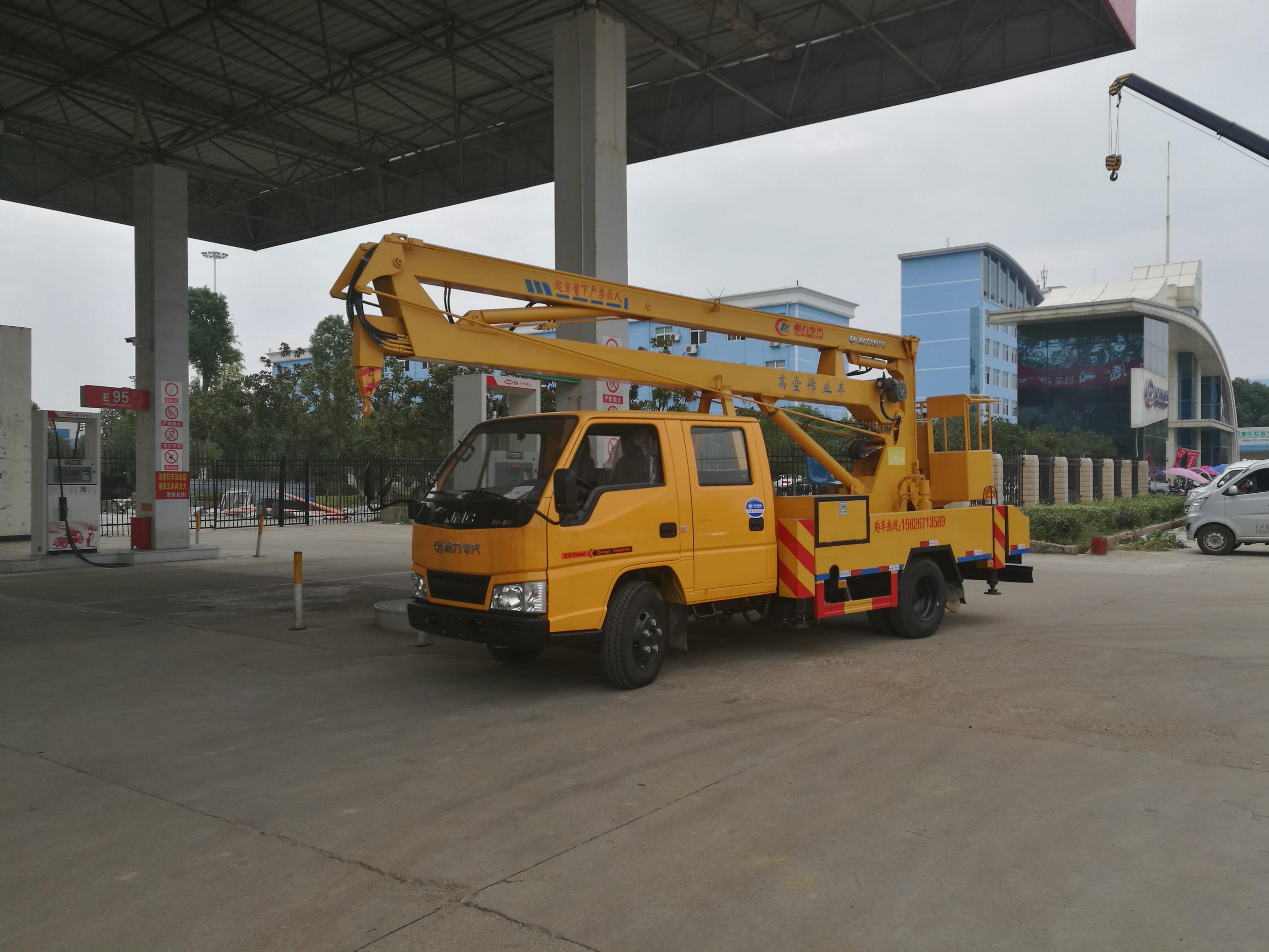 江铃16米高空升降车展示,高空作业车性能图片