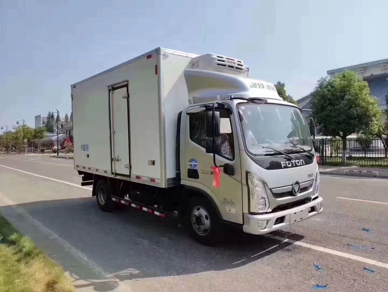 国六奥铃4.2米冷藏车,首付2万提回家!图片