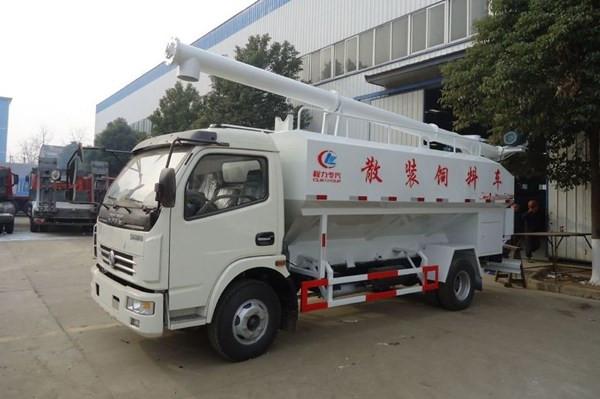 国六12方小型 散装饲料运输车-国六6吨饲料运输车
