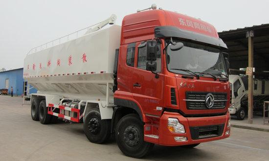 东风天龙前四后八(45方)铝合金轻量化散装饲料运输车
