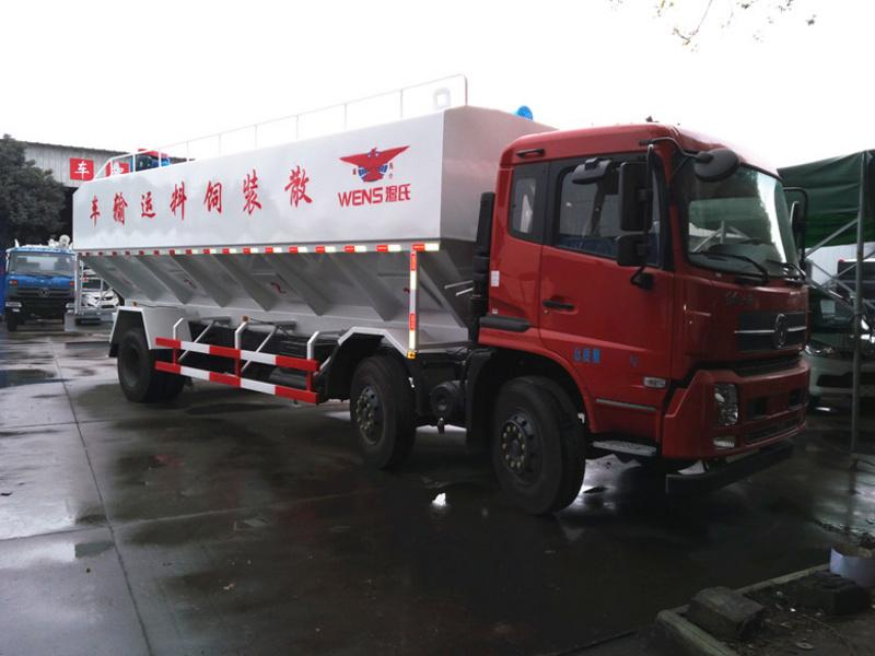 东风天锦小三轴15吨散装饲料车