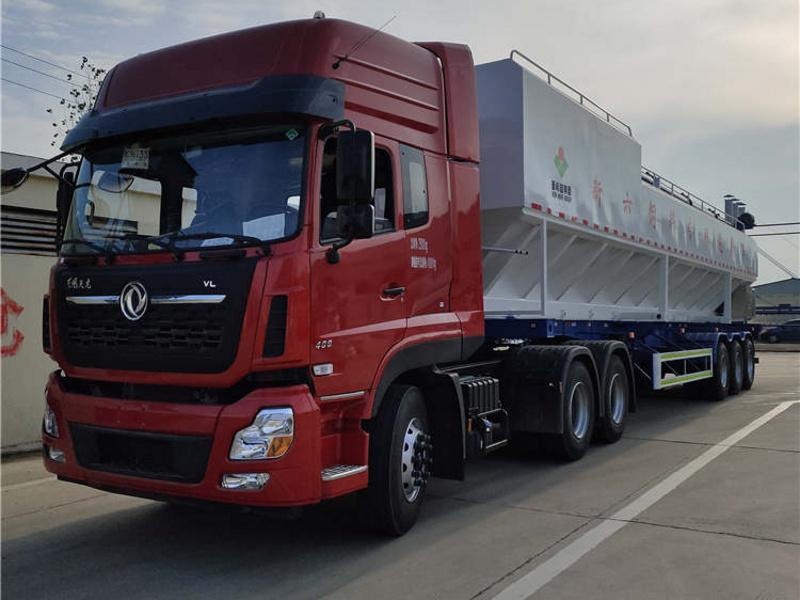 30吨半挂散装饲料运输车