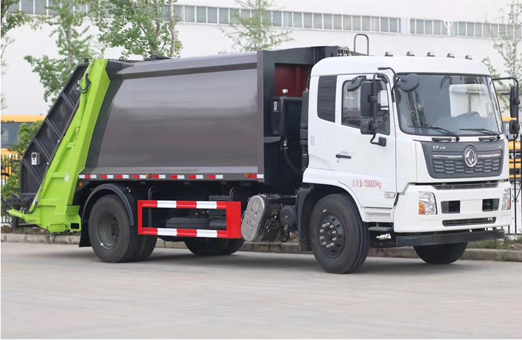 14方壓縮垃圾車_垃圾車廠家_天錦壓縮垃圾車價格圖片