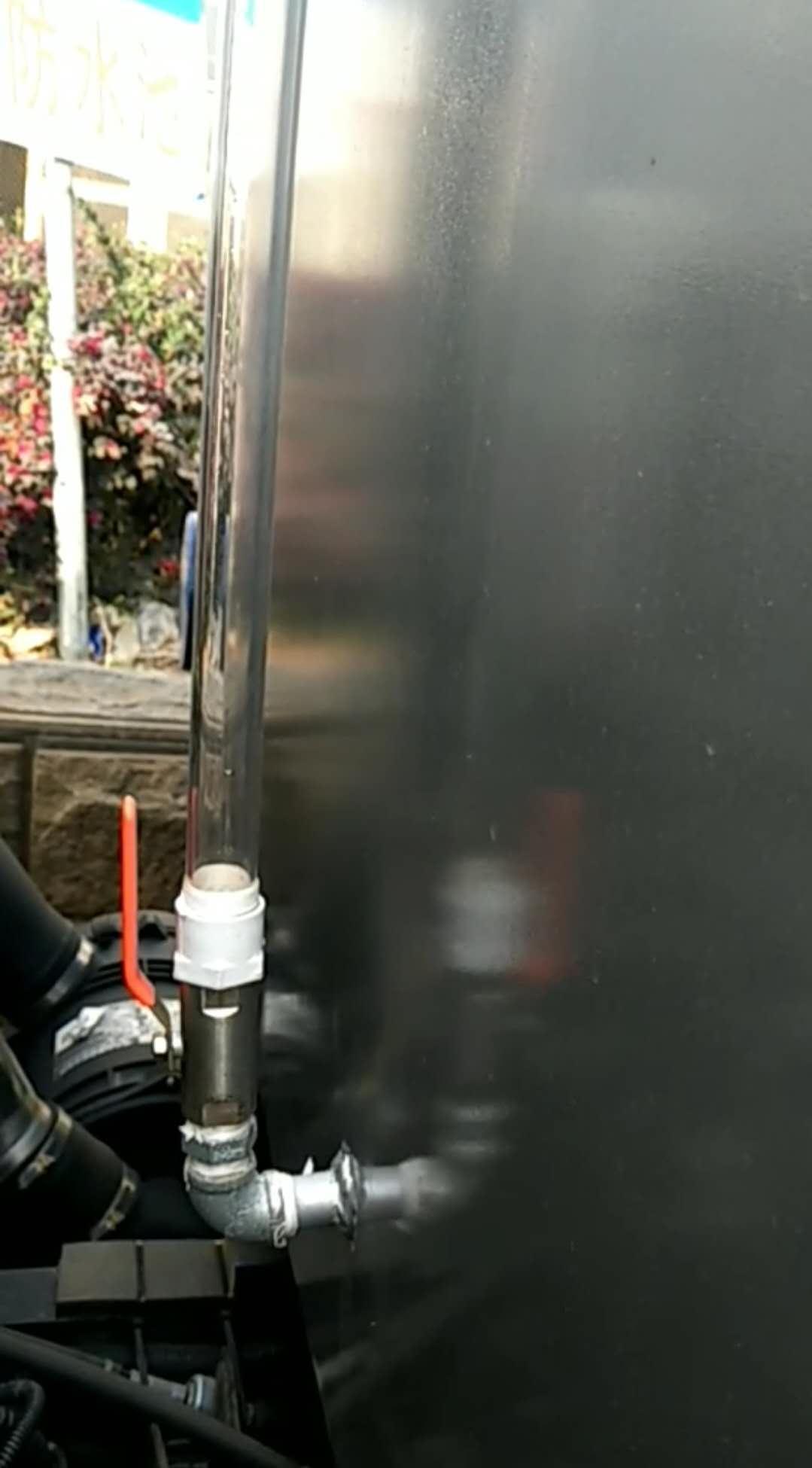 雾炮车洒水车使用流程操作视频1-6(4)观察洒水车进水量视管情况视频