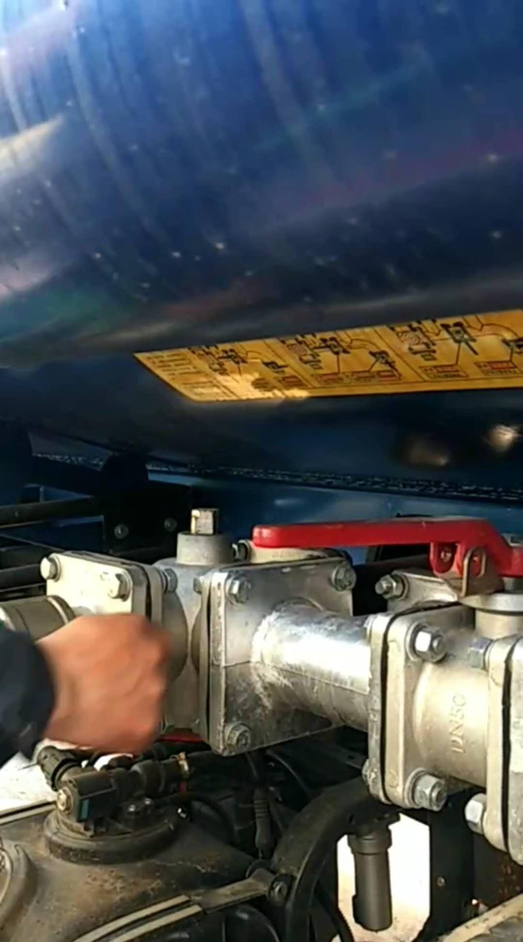 雾炮车洒水车使用流程操作视频1-6(5)关闭洒水车进、出水口视频