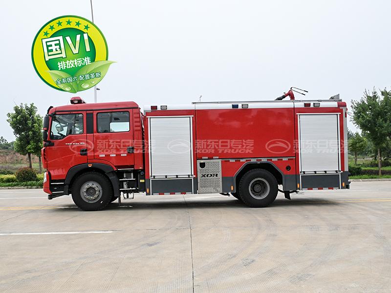 国六T5G水罐泡沫消防车