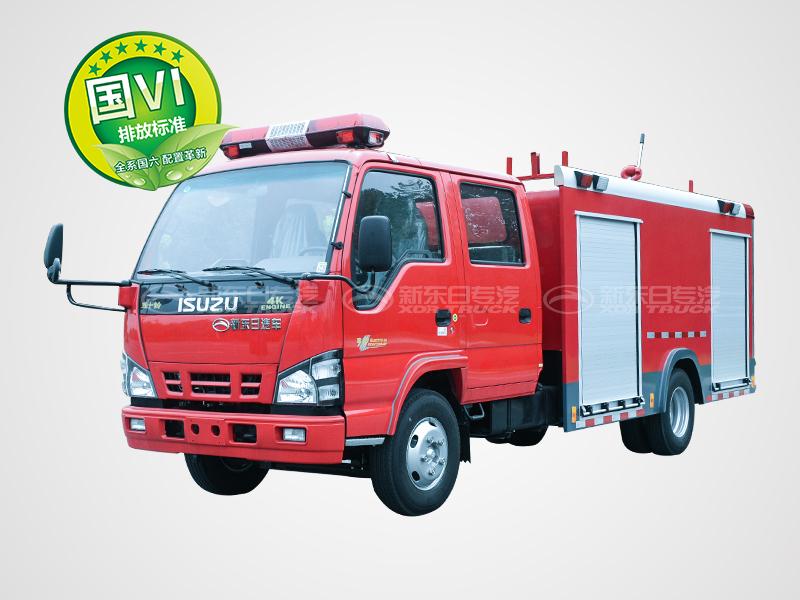 国六五十铃水罐消防车