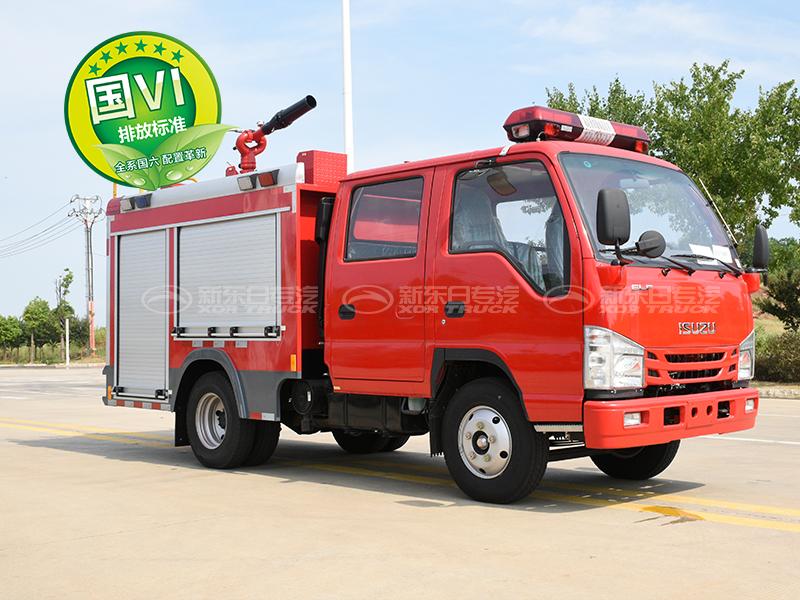 国六100P水罐消防车