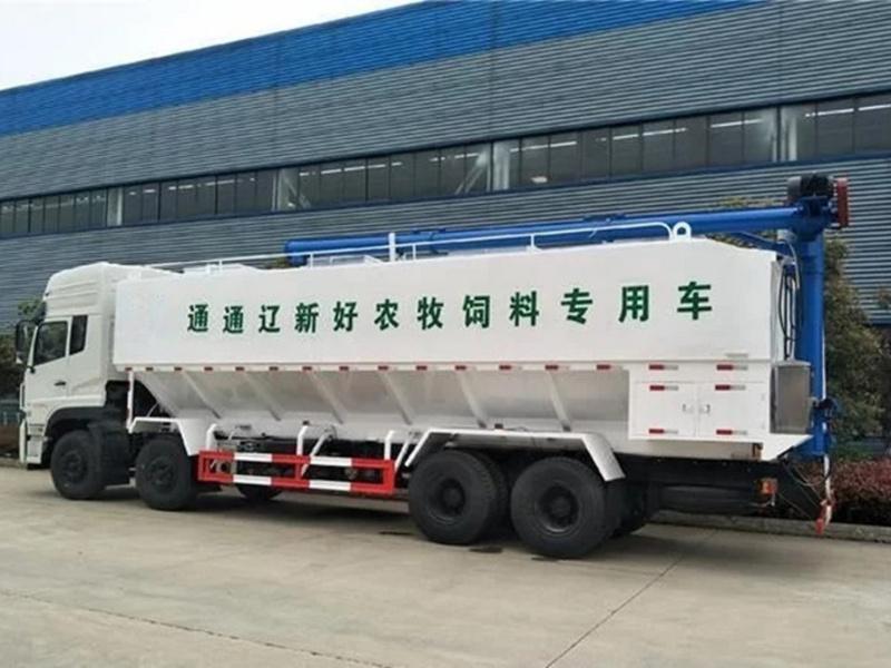 饲料车,也叫作散装饲料车,全称为散装饲料运输车