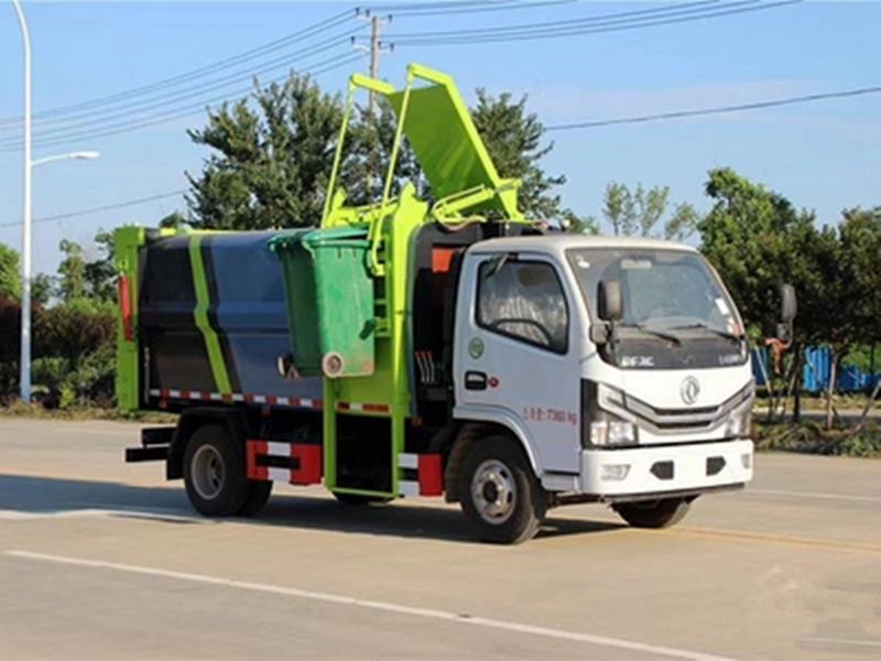 国六小多利卡侧装压缩式对接垃圾车