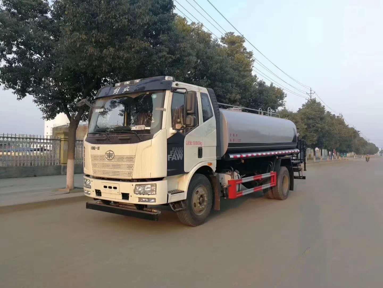 吉林15噸解放J6灑水車廠家報價圖片