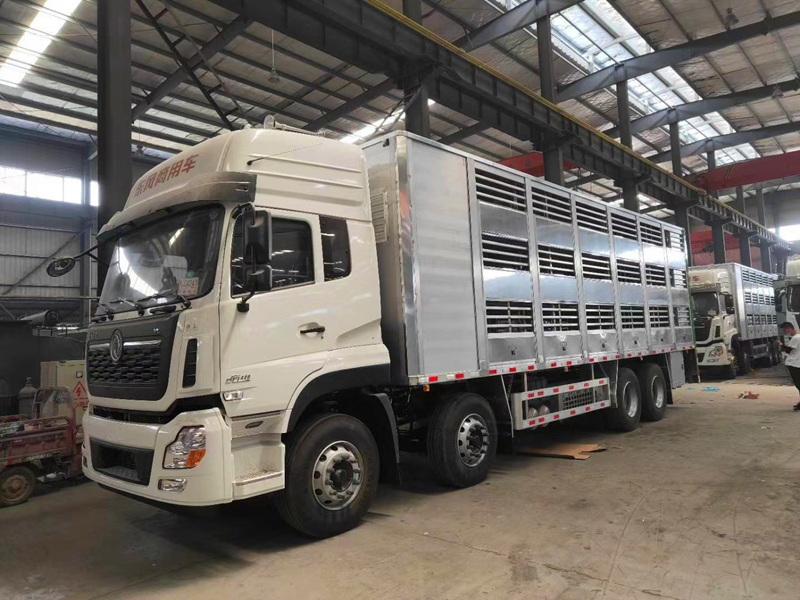 新型铝合金9米6拉猪车专用车