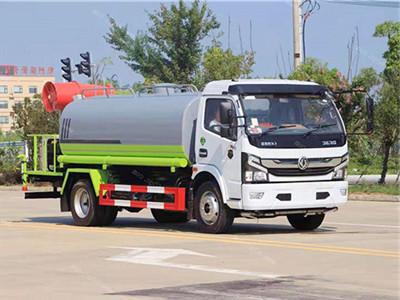 新鮮出爐東風8噸配40米霧炮灑水車,價格低廉欲購從速!圖片