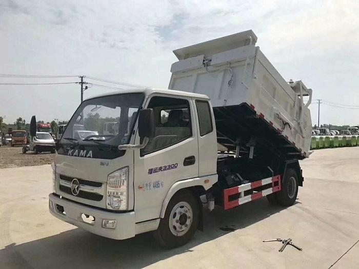 凯马4吨压缩对接式垃圾车-4立方压缩对接式垃圾车
