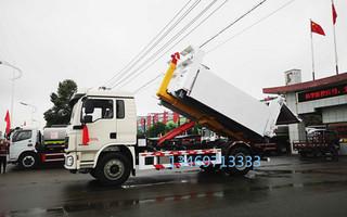 陜汽德龍16噸勾臂垃圾車圖片