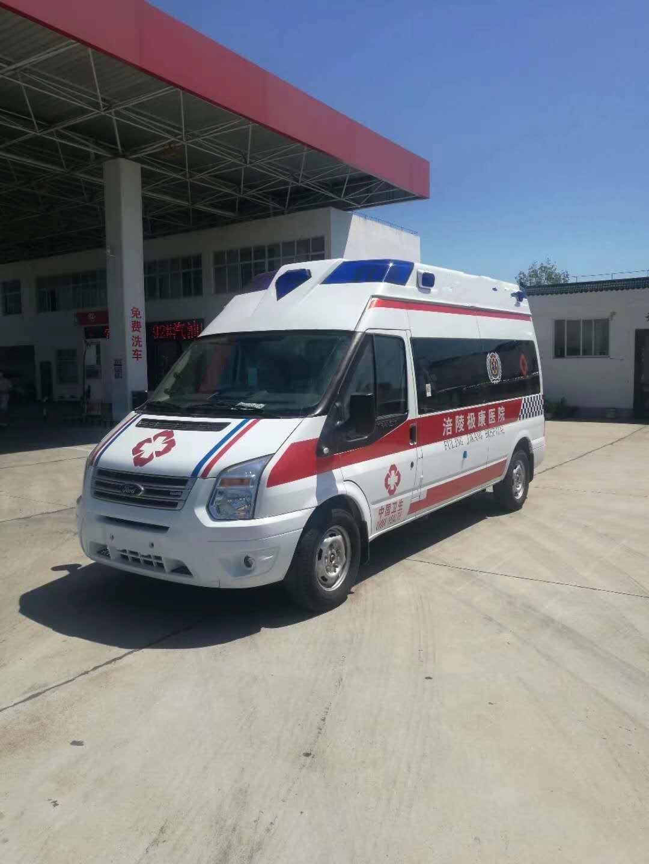 福特V348长轴高顶救护车,加班发车图片