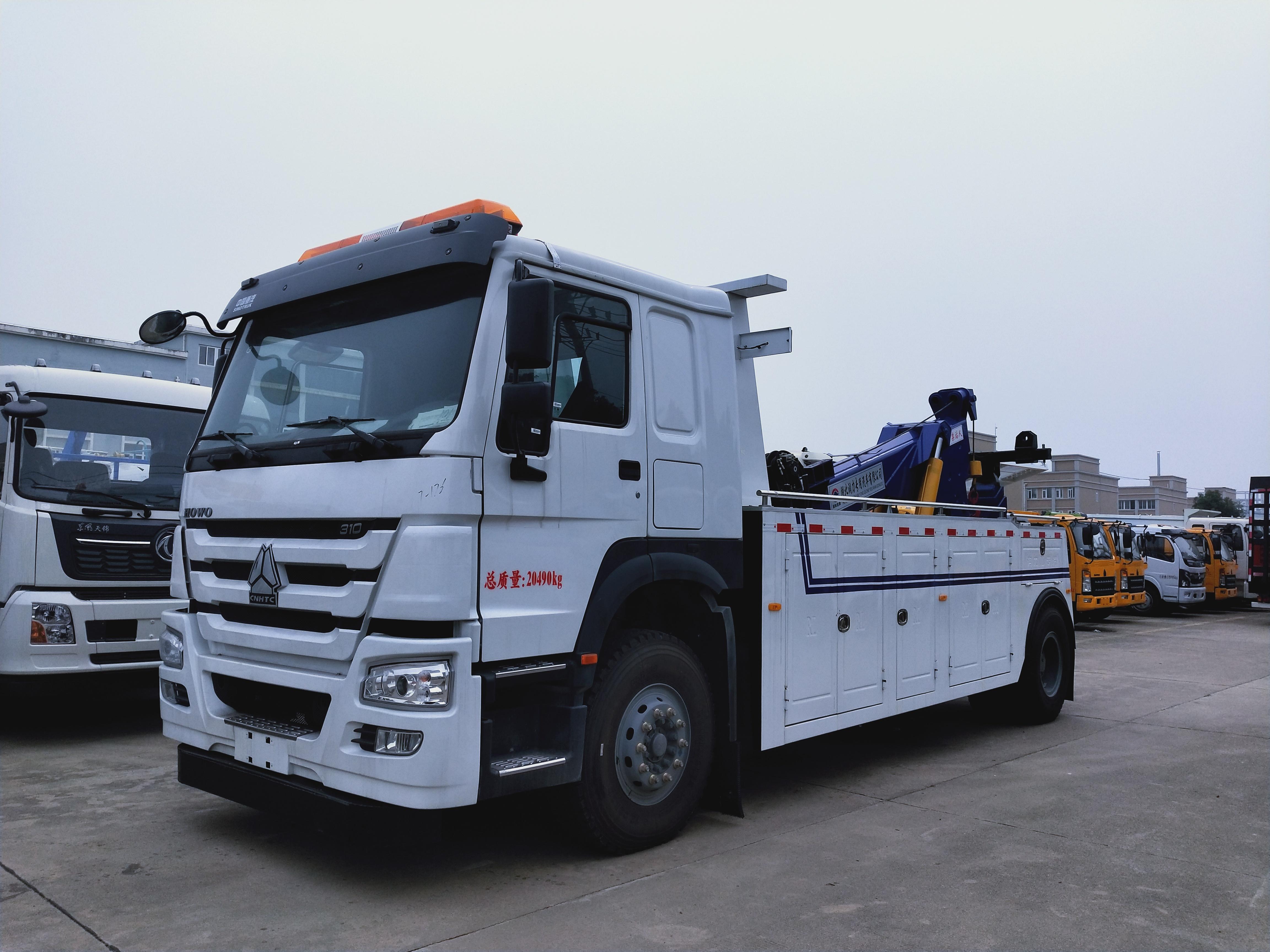 16吨重汽豪沃大型救援拖车价格310马力清障车厂家图片