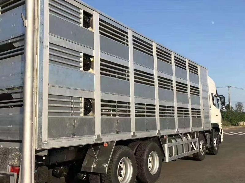 东风天龙前四后八9米6铝合金拉猪车配置