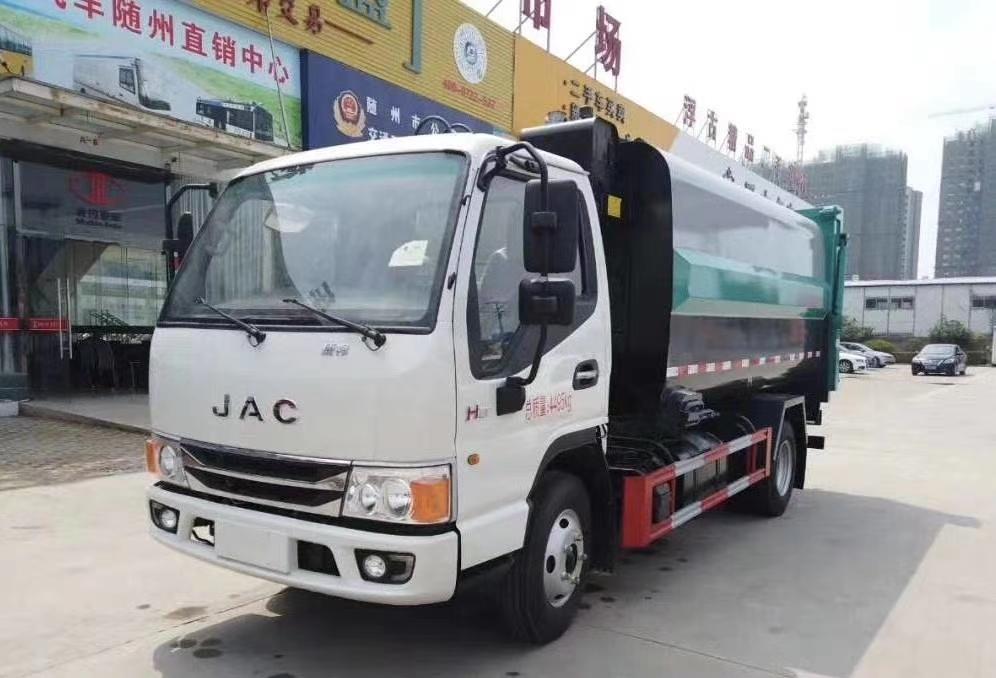 江淮国六侧装压缩垃圾车
