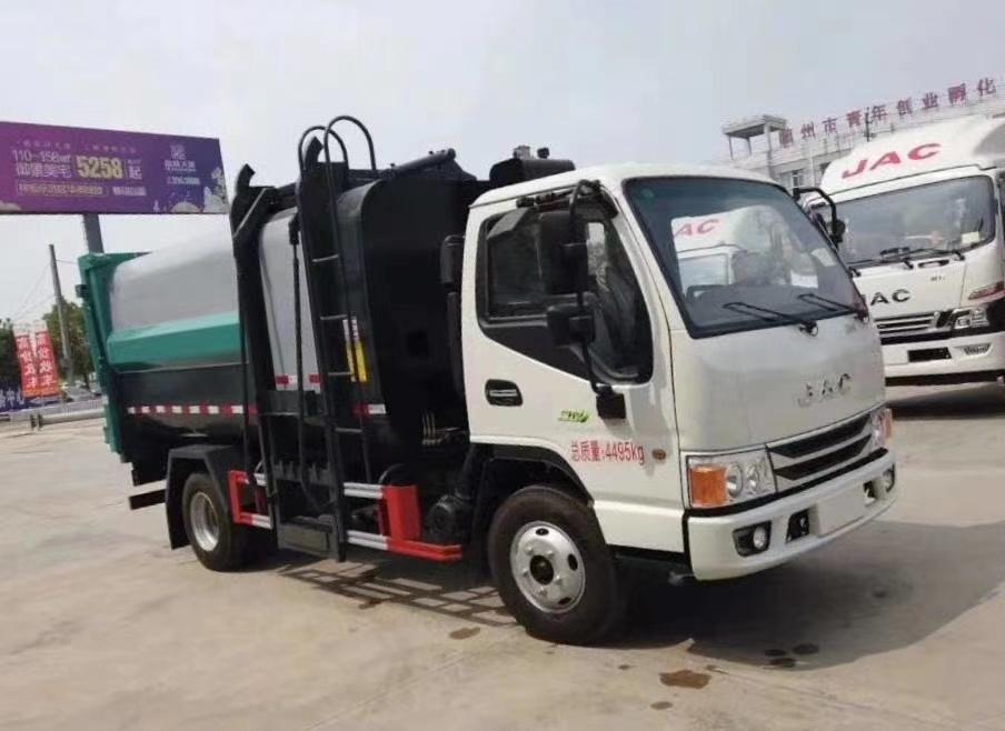 江淮國六側裝壓縮垃圾車