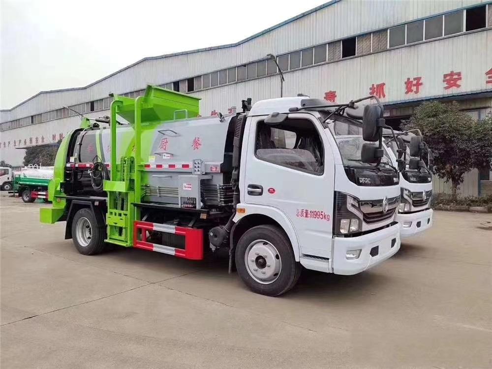 国六东风多利卡D7餐厨垃圾车图片