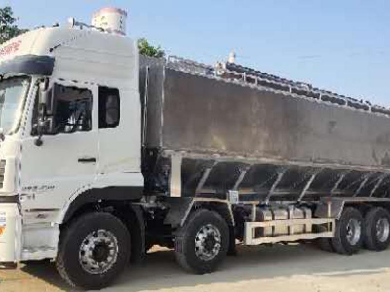 轻量化30方40方铝合金散装饲料运输罐