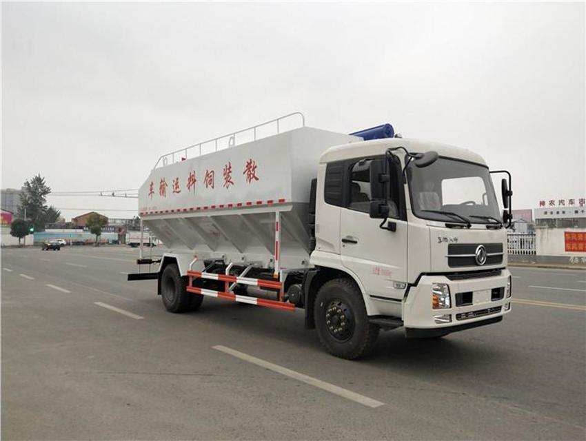 东风天锦小三轴30方散装饲料运输车图片展示