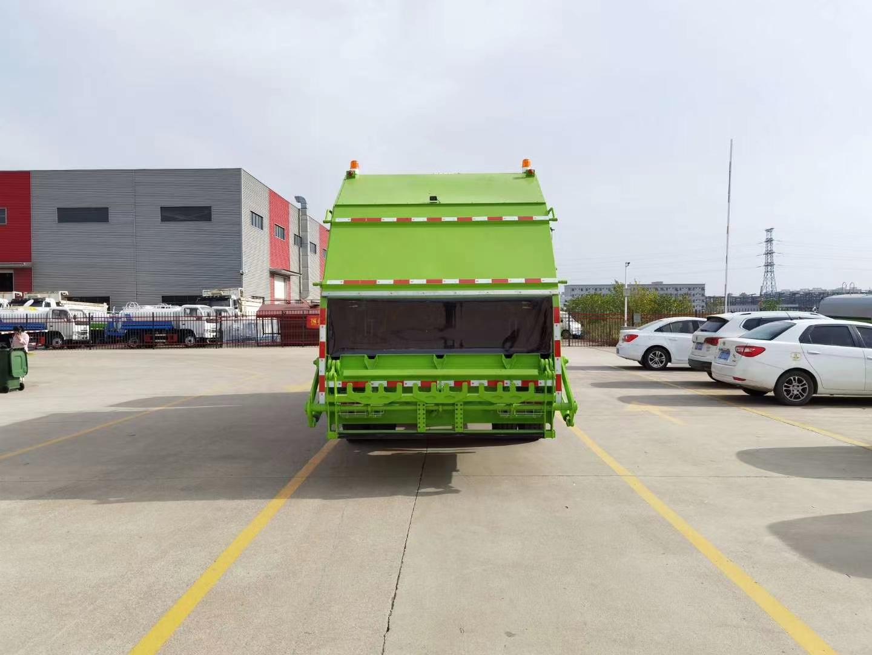 國六東風天錦14立方壓縮式垃圾車圖片