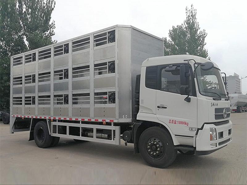 6.8米恒温运猪车厂家直销新型环保畜禽运输车,恒温,杀毒,安全!