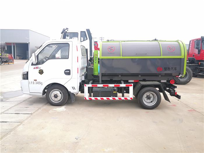 东风途逸3方勾臂垃圾车-车厢可卸式垃圾车