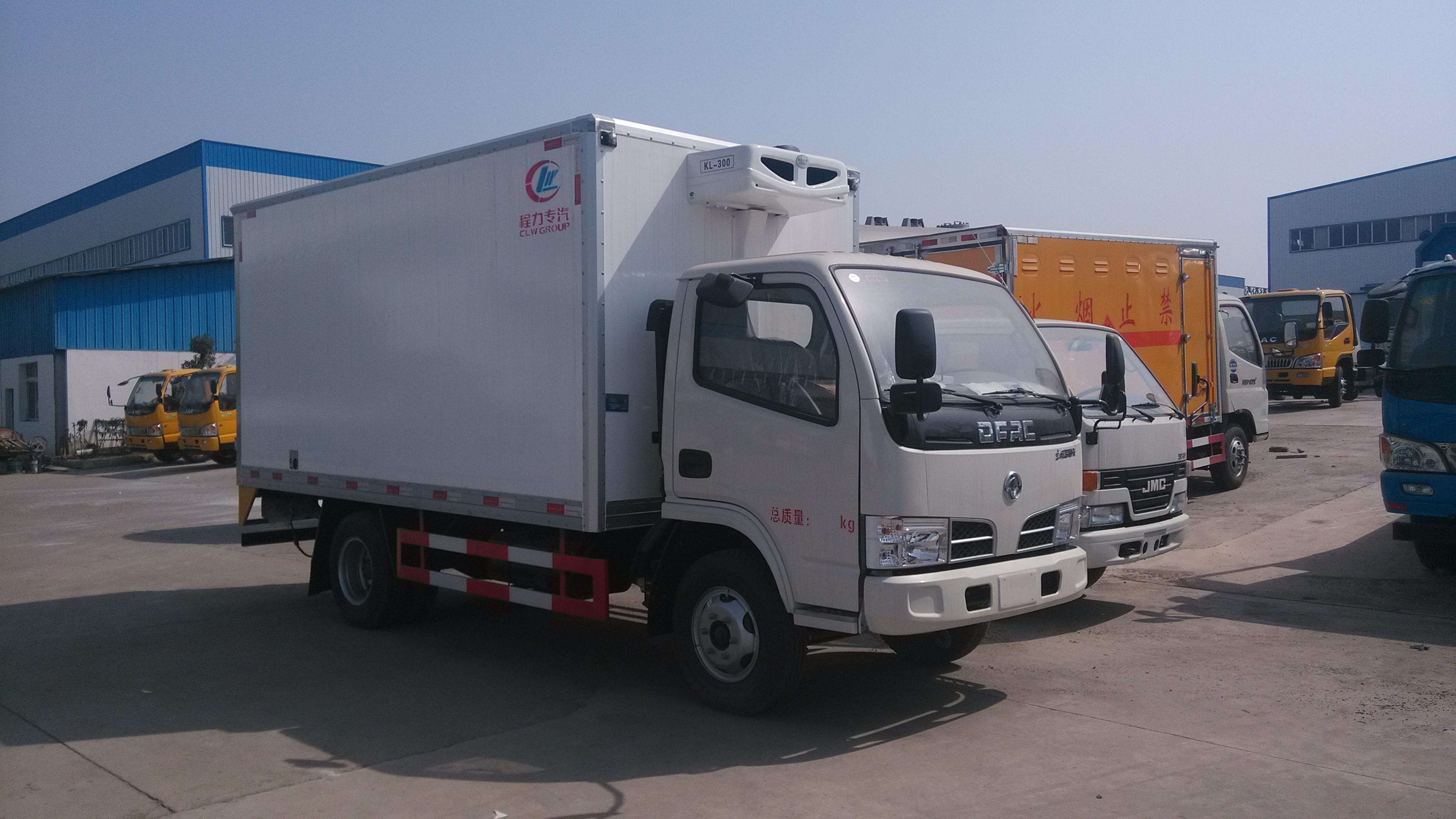 蓝牌东风4.2米冷藏车什么价?图片