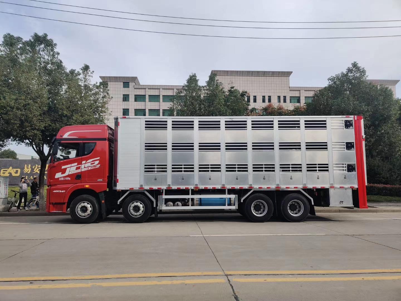 解放JH6全铝合金恒温畜禽运输车,接受预定!图片