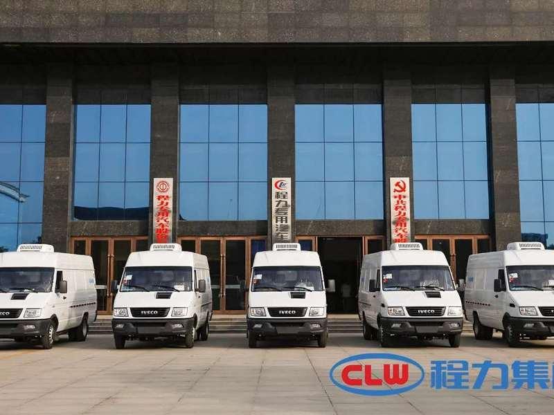 南京依維柯后雙輪冷藏車,批量發往云南