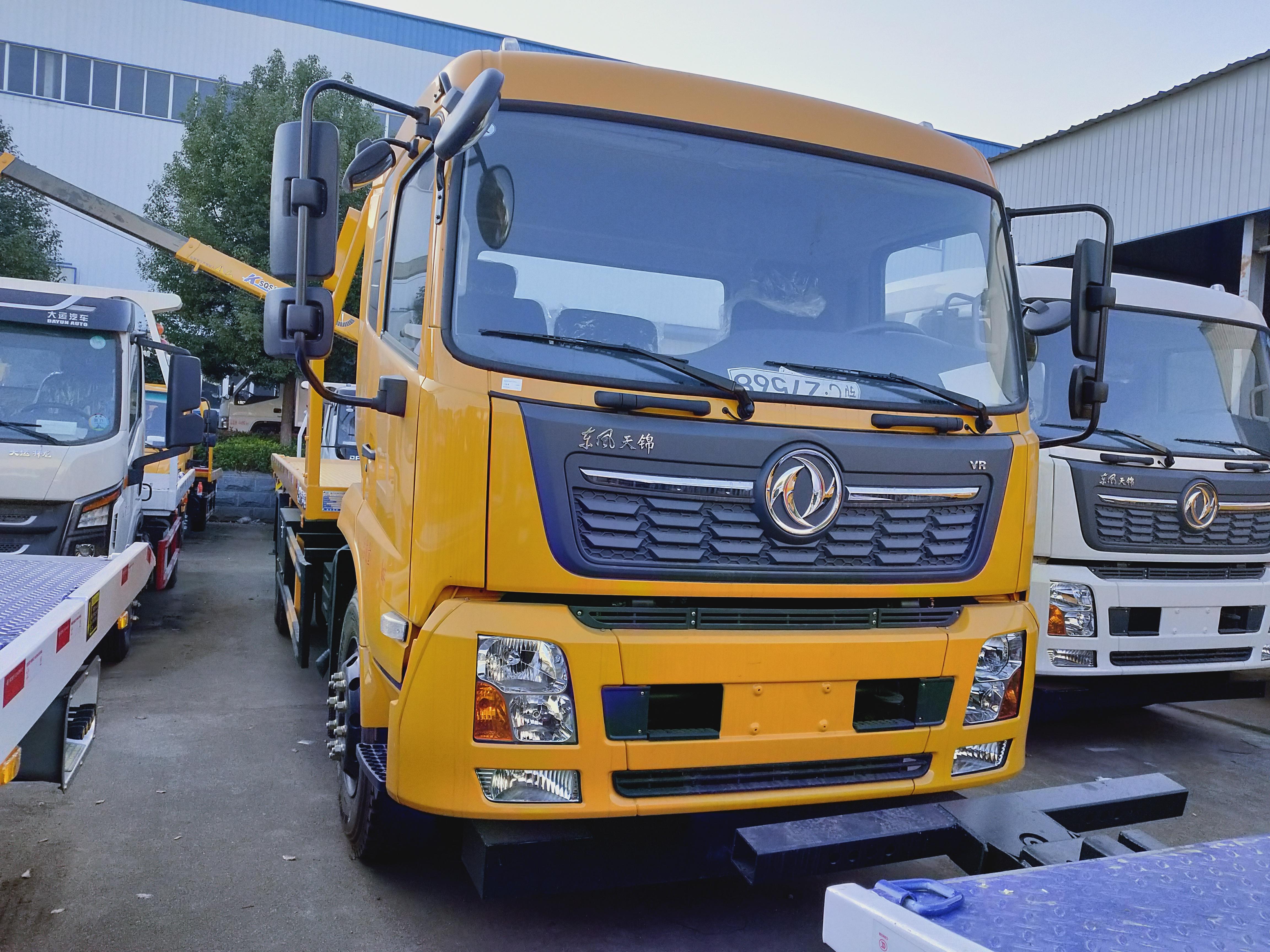 8吨救援拖车价格天锦一拖二清障车康明斯发动机厂家