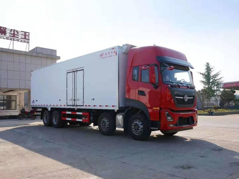东风天龙KL(高顶双卧)9米6冷藏车生产厂家报价图片