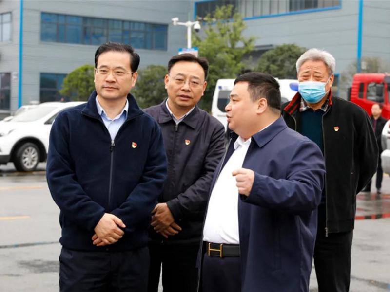 随州市市委书记钱远坤带领市区领导赴程力集团视察指导