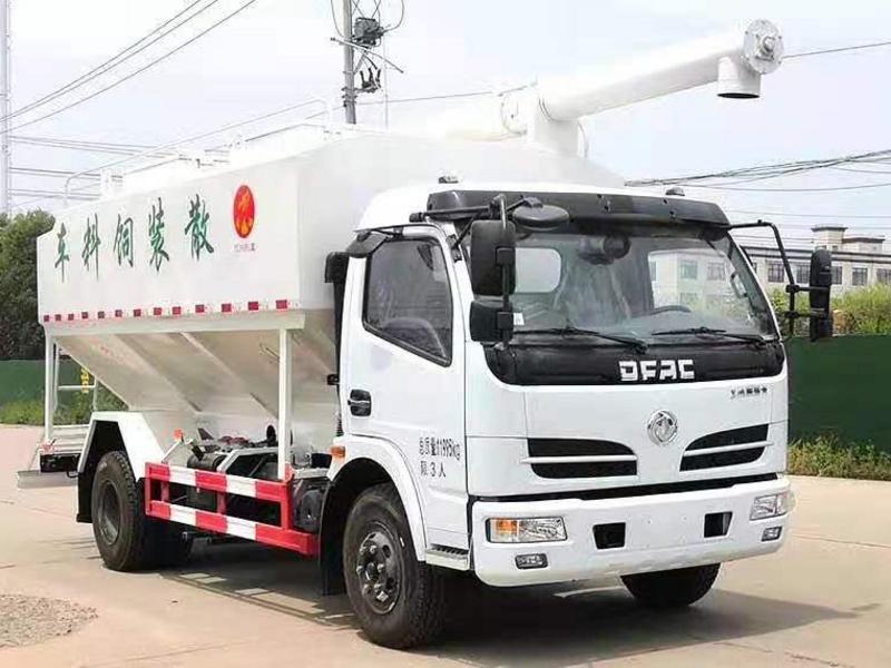 国六东风大多利卡散装饲料运输车技术参数和详细配置图片