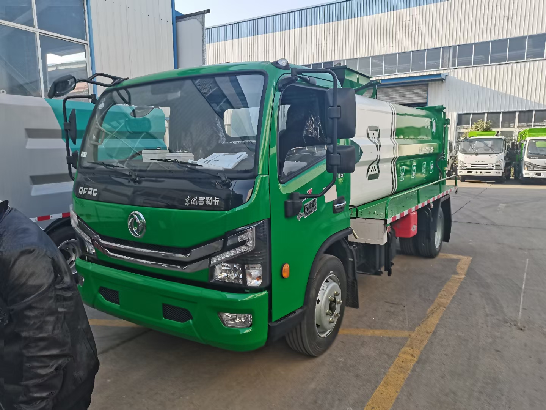 东风多利卡7.5方餐厨垃圾车可上京牌图片