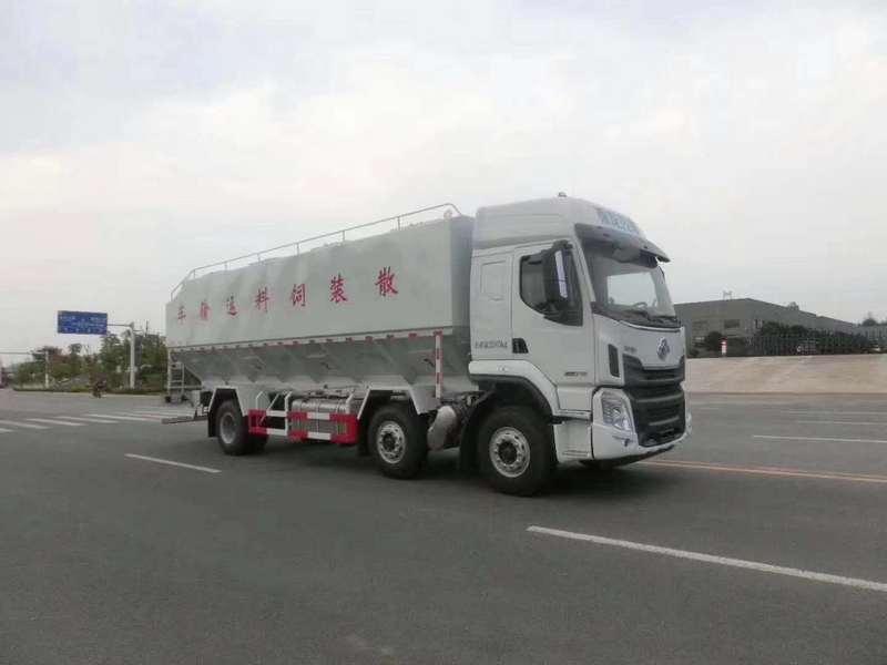 国六柳汽乘龙小三轴散装饲料运输车详细资料和技术参数图片