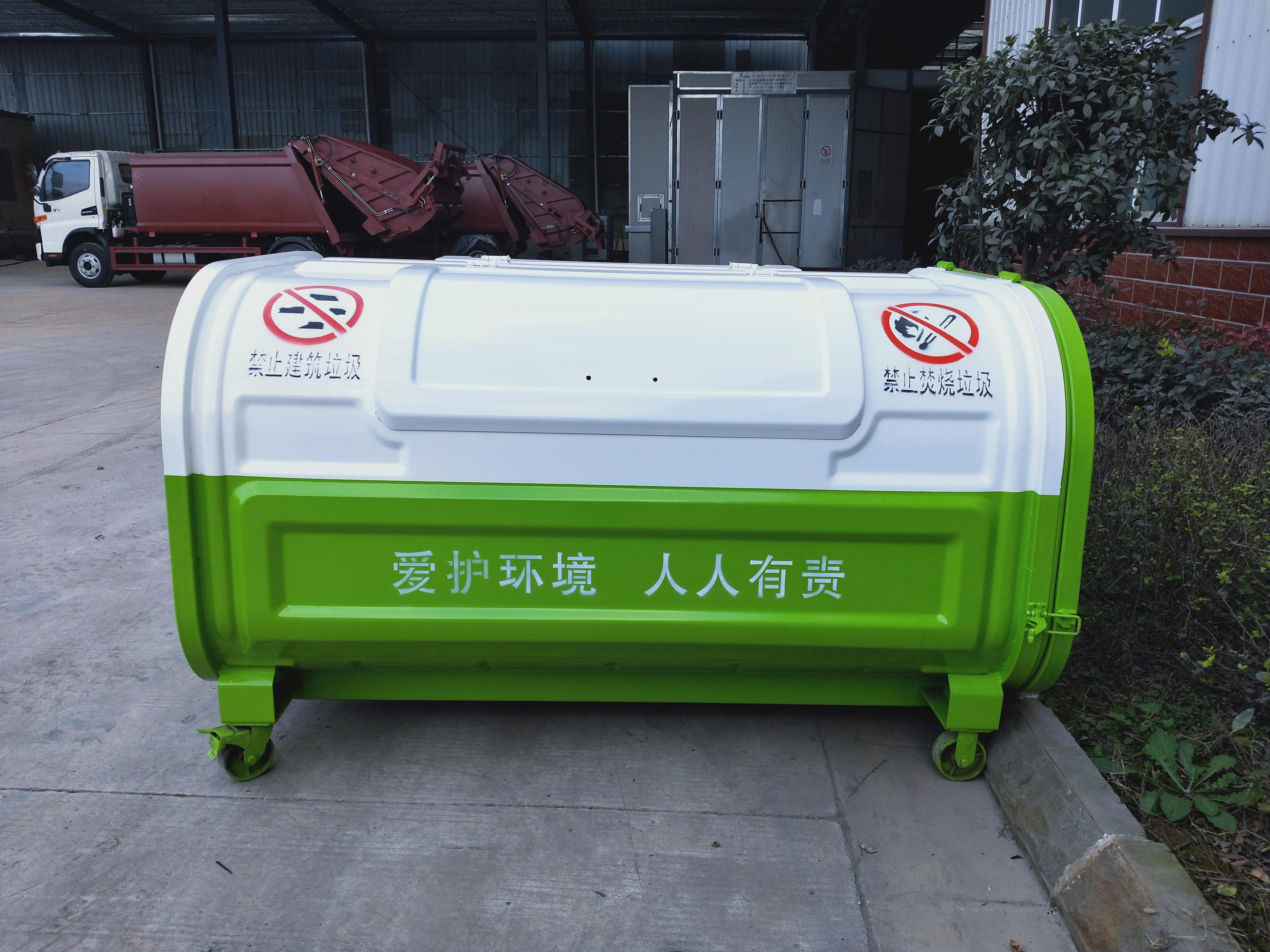 垃圾箱厂家3立方垃圾箱价格不同颜色图片垃圾箱万向轮图片图片