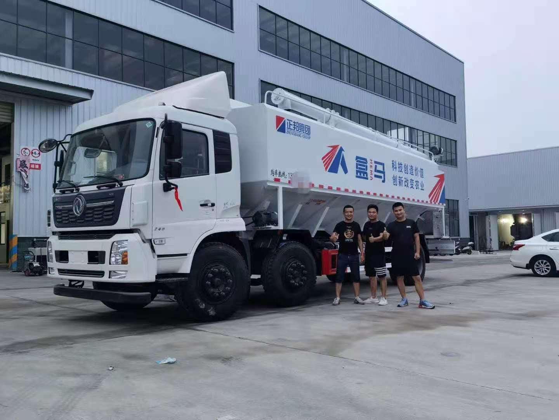 东风天锦34方散装饲料车生产过程,冠力专汽厂长笔记4