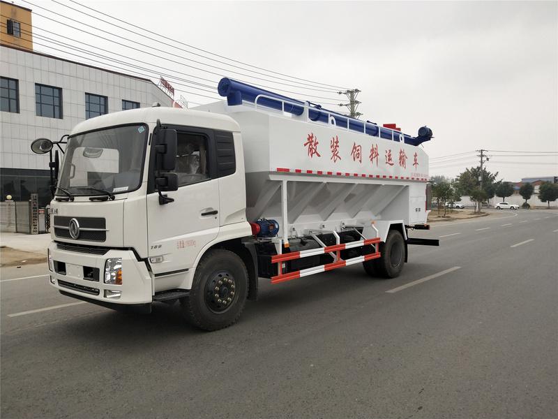 东风饲料车天锦10吨散装饲料运输车厂家特价销售价格优惠