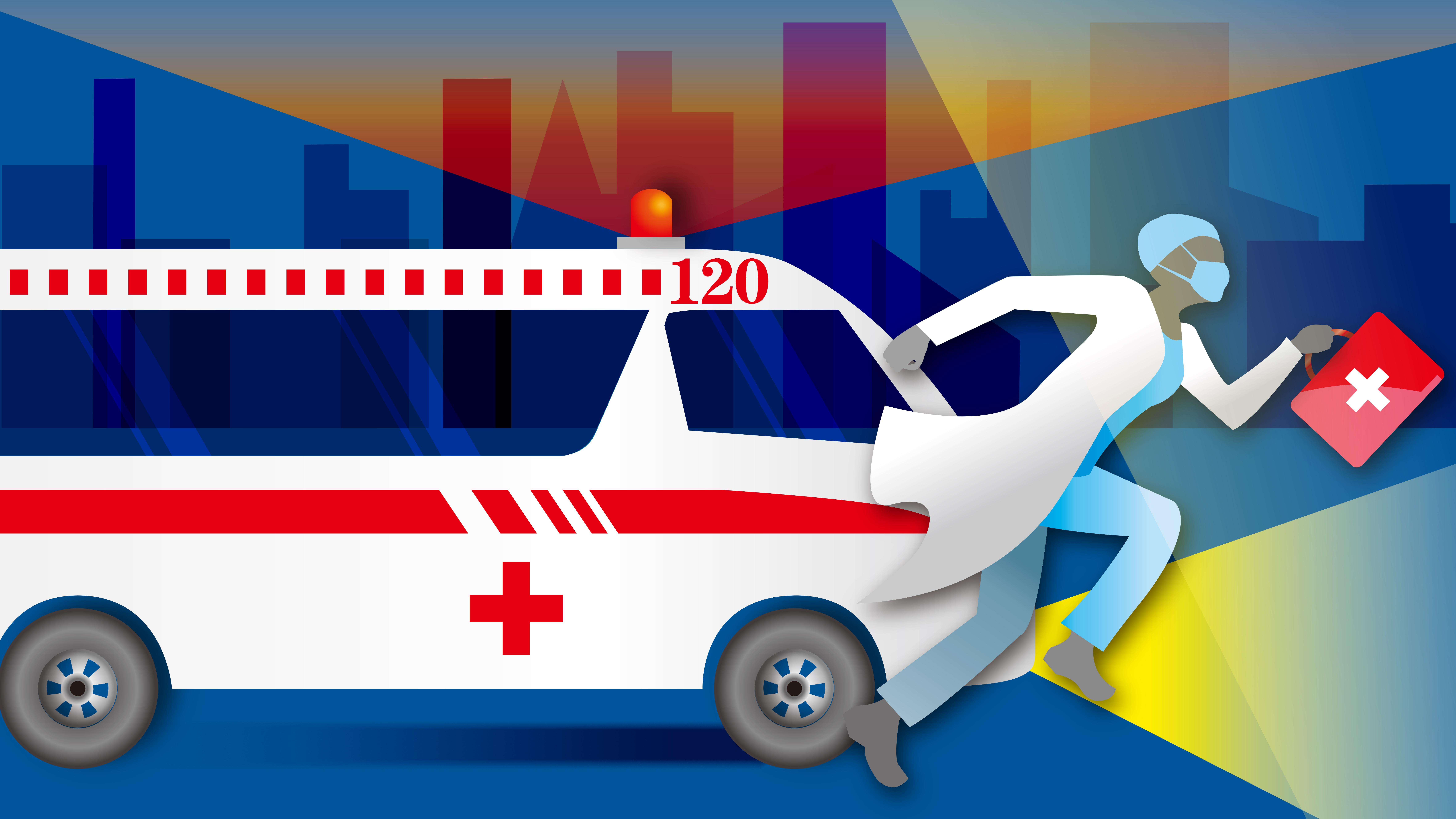 救護車冷知識:車頭標識為啥反著寫?視頻