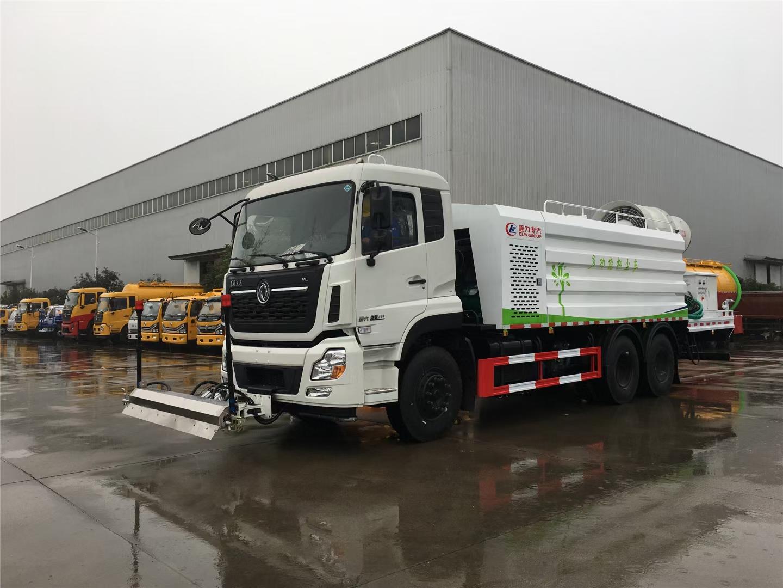 天龙120米抑尘车12吨洒水车路面养护车图片
